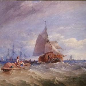 THOMAS SEWELL ROBINS WATERCOLOUR MARINE SHIPS