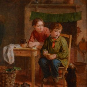 WILLIAM HEMSLEY OIL PAINTING CHILDREN