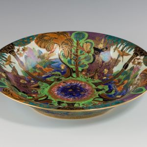 ANTIQUE WEDGWOOD FAIRYLAND LUSTRE LILY TRAY