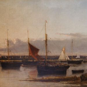 WILLIAM LIONEL WYLLIE-OIL PAINTING-YARMOUTH HARBOUR