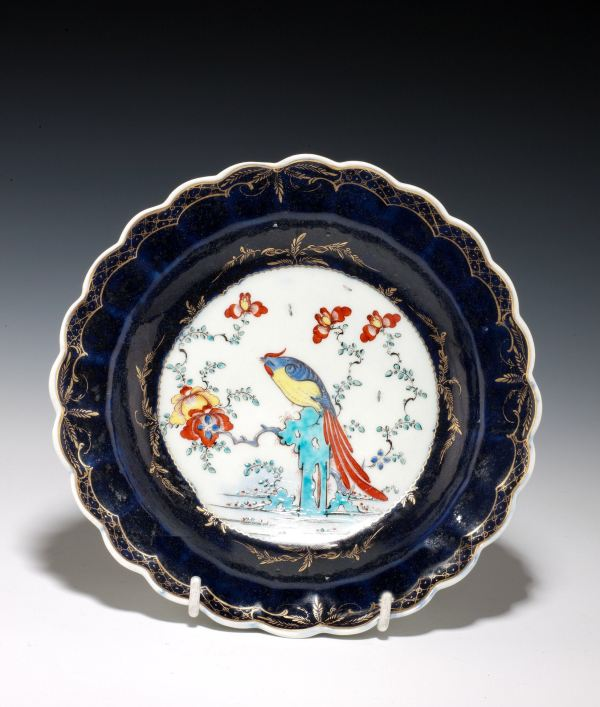ANTIQUE WORCESTER PLATE SIR JOSHUA REYNOLDS PATTERN