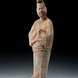 ANTIQUE CHINESE TANG DYNASTY TERRACOTTA FIGURE
