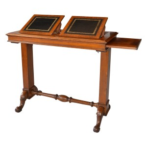 LATE 19TH CENTURY OAK PATENT READING TABLE