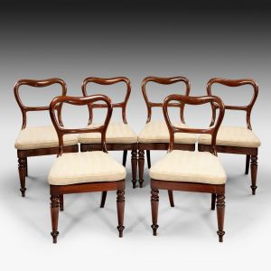SIX ANTIQUE WILLIAM IV ROSEWOOD DINING CHAIRS