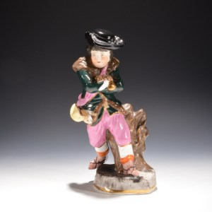 ANTIQUE DUDSON STAFFORSHIRE FIGURE OF WINTER