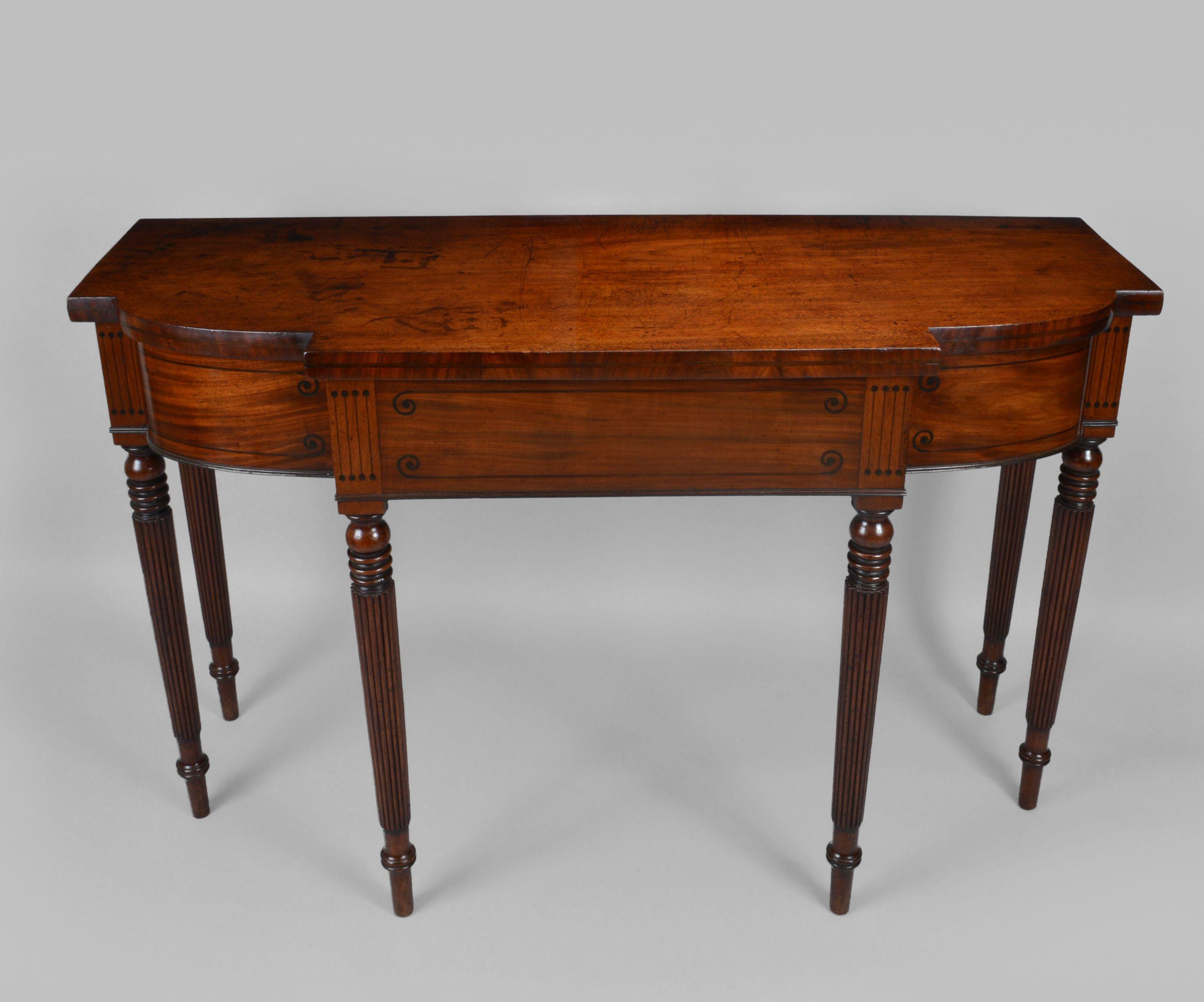 regency mahogany sofa table leather sofas in san antonio console richard gardner antiques