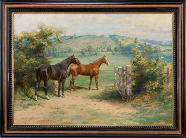antique-oil-painting-Martin-Frank-Stainforth-Ranksborough-Gorse-023-29Apr13_6391