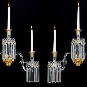 ANTIQUE PAIR OF WILLIAM IV WALL LIGHTS