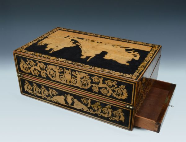 antique-penwork-writing-box-slope-Georgian-bramah-lock-classical-scenes-DSC_2065-_6089