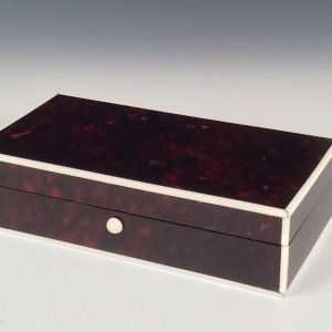 ART DECO TORTOISESHELL AND IVORY BOX