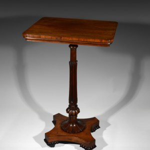ANTIQUE GEORGE IV GILLOWS ROSEWOOD LAMP TABLE