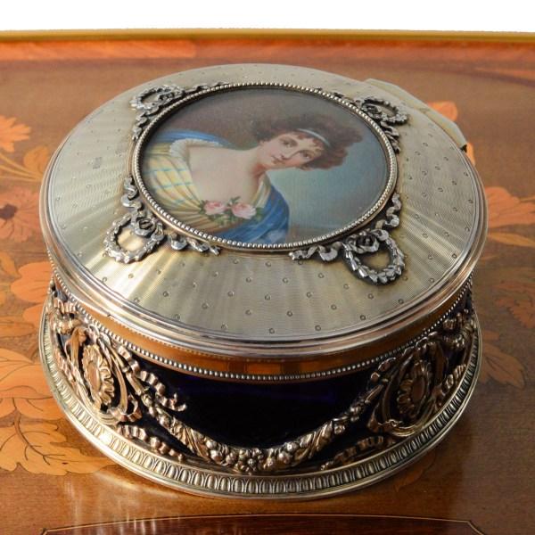 antique-silver-blue-glass-box-french-portrait-miniature-young-woman-DSC_7737