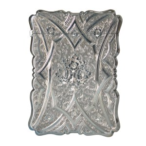 ANTIQUE SILVER CARD CASE BY ALFRED TAYLOR