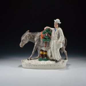 ANTIQUE STAFFORDSHIRE FIGURE OF BEESUMS