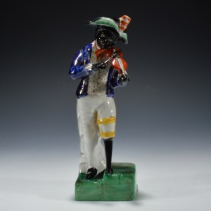 ANTIQUE STAFFORDSHIRE FIGURE OF WILLIAM WATERS