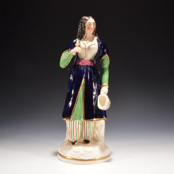 ANTIQUE STAFFORDSHIRE FIGURE OF MARIA MALIBRAN