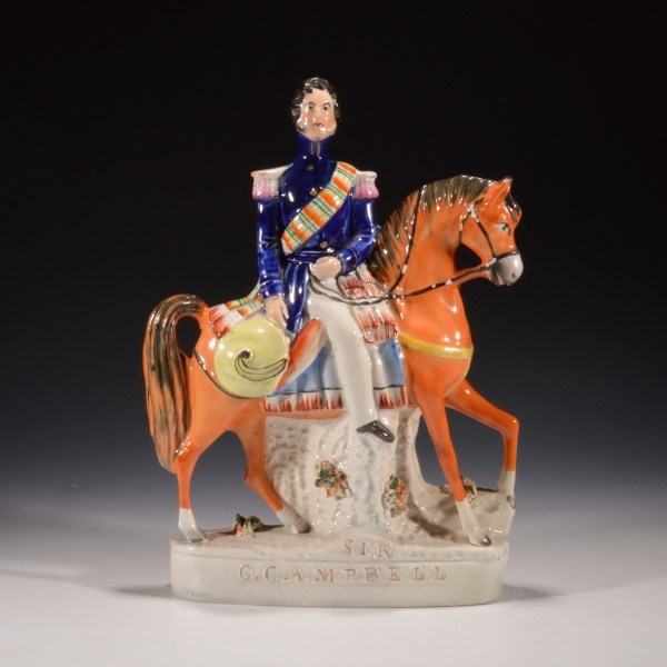 ANTIQUE STAFFORDSHIRE FIGURE OF SIR COLIN CAMPBELL