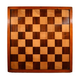 ANTIQUE LATE 19TH CENTURY CLUB SIZED CHESS BOARD