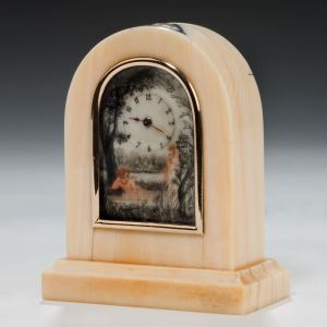 ANTIQUE BOUDOIR OR CARRIAGE CLOCK