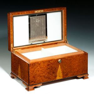 ANTIQUE DUNHILL THUYA WOOD CIGAR HUMIDOR