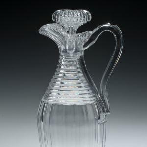 ANTIQUE GLASS CLARET JUG