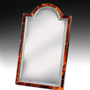 ART DECO TORTOISESHELL AND IVORY DRESSING TABLE MIRROR