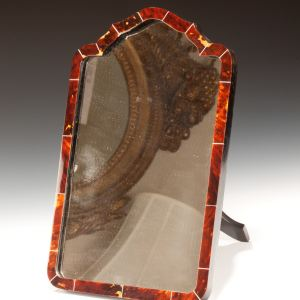 ART DECO TORTOISESHELL & IVORY DRESSING TABLE MIRROR
