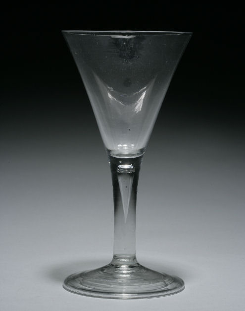 ANTIQUE GEORGE II PERIOD GLASS GOBLET