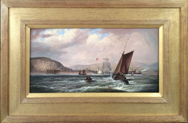 ISAAC-WALTER-JENNER-OIL-PAINTING-NEWHAVEN-HARBOUR-antique-IMG_1746_5766