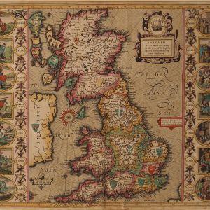 ANTIQUE JOHN SPEED MAP OF BRITAIN