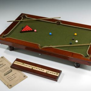 ANTIQUE MINIATURE NUKU BILLIARDS TABLE