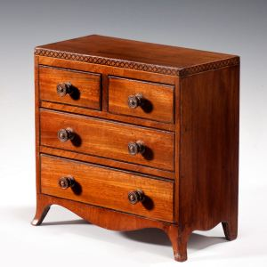 REGENCY MINIATURE MAHOGANY CHEST OF DRAWERS