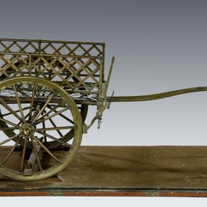 ANTIQUE BRONZE MODEL OF ARMY TRANSPORT SARA SARA CART