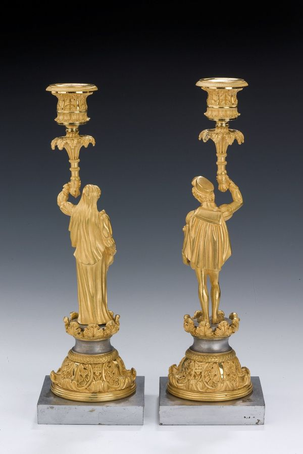 pair-candlesticks-gilt-silvered-bronze-French-Gothic-figural-antique-5433_1_5433