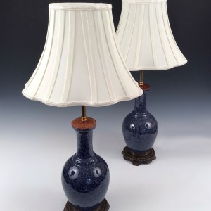 ANTIQUE PAIR OF CHINESE VASES CONVERTED TO TABLE LAMPS