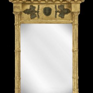 ANTIQUE REGENCY GILT FRAMED PIER GLASS