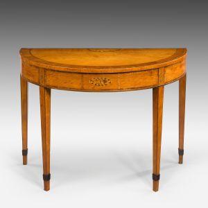 ANTIQUE GEORGE III SATINWOOD PIER TABLE