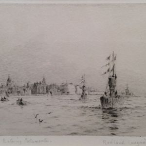 ROWLAND LANGMAID-ETCHING-PORTSMOUTH HARBOUR