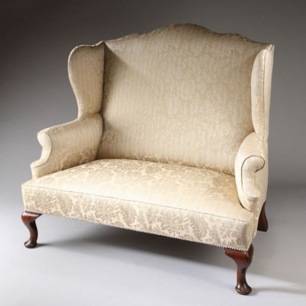 ANTIQUE GEORGE I STYLE WING BACK SETTEE