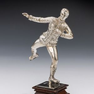 ANTIQUE SILVER FIGURE ICE SKATER