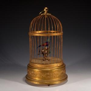 ANTIQUE SINGING BIRD CAGE