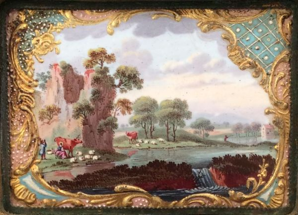 snuff-box-tortoiseshell-pressed-English-enamel-painted-landscape-GeorgeIII-antique-5728_1_5728