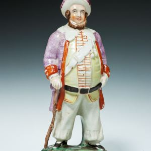 ANTIQUE STAFFORDSHIRE FIGURE OF FALSTAFF