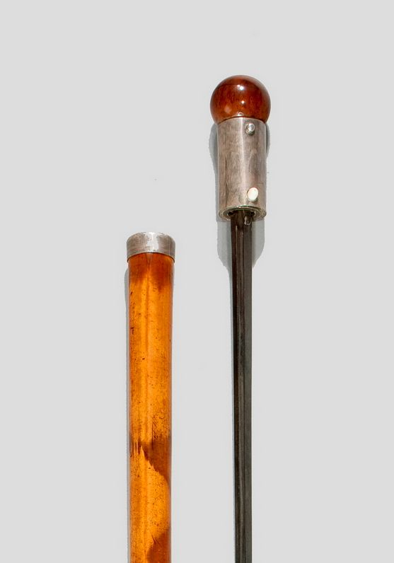 ANTIQUE MALACCA SWORDSTICK WITH BLOOD GROOVE
