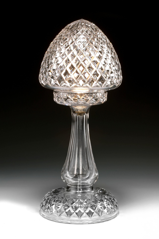 Antique diamond cut glass table lamp richard gardner antiques antique diamond cut glass table lamp mozeypictures Images