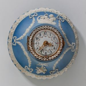 ANTIQUE WEDGWOOD JASPERWARE WALL CLOCK
