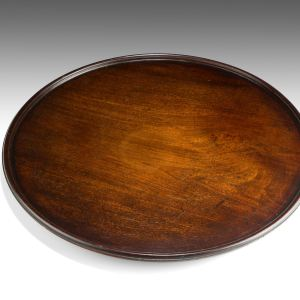 ANTIQUE GEORGE III CIRCULAR MAHOGANY TRAY