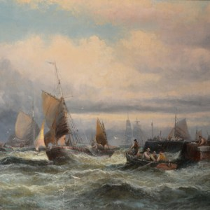 WILLIAM THORNLEY OIL PAINTING MARINE