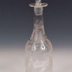 ANTIQUE GLASS WINE DECANTER