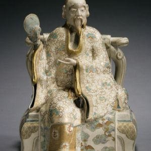 JAPANESE SATSUMA FIGURE OF A DEITY